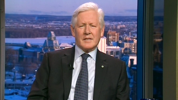 Liberal interim leader Bob Rae appears on Canada AM, Tuesday, Feb. 28, 2012.
