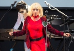In this Aug. 16, 2014 file photo, Blondie frontwoman Debbie Harry, performs on stage during V Festival 2014 at Hylands Park in Chelmsford, Essex, in England. (Photo by Joel Ryan/Invision/AP, File)