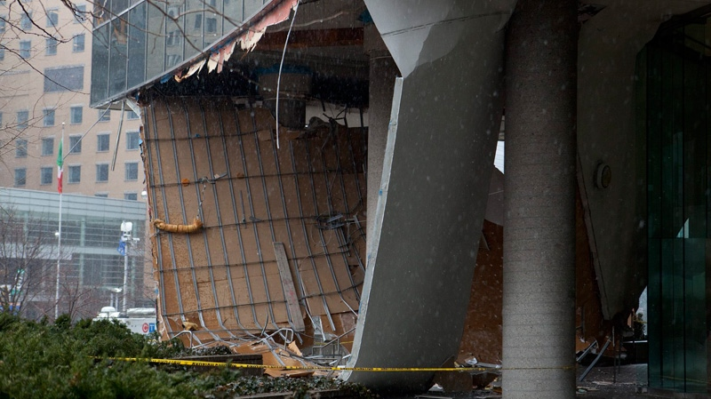 roof collapse, university avenue roof collapse, toronto roof collapse