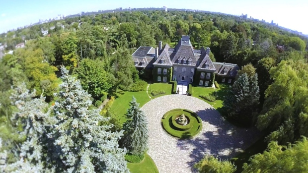 An estate is for sale on Toronto's Bridle Path, an area nicknamed 'Millionaires' Row.' (Barry Cohen)