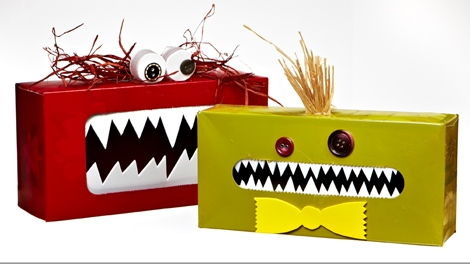 Canadian Family Magazine shows you how to make monster boxes with your kids.