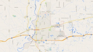 Terre Haute, Indiana is seen in this image from Google Maps.