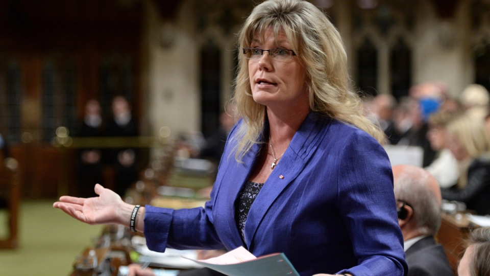 Minister of Canadian Heritage and Official Languages Shelly Glover responds to a question during question period in the House of Commons on Parliament Hill in Ottawa on Thursday, Oct. 9, 2014. (Sean Kilpatrick / THE CANADIAN PRESS)