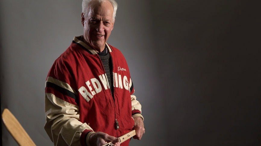 """Gordie Howe is shown in a handout photo from the book """"Mr. Hockey."""" (Neue Studios / Paul Horton)"""