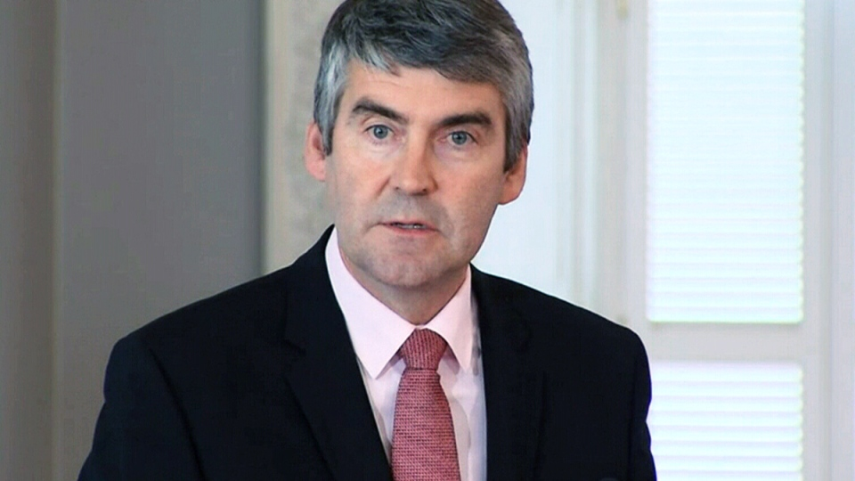Nova Scotia Premier Stephen McNeil apologizes to the former residents of the Nova Scotia Home for Colored Children, in Halifax, Friday, Oct. 10, 2014.