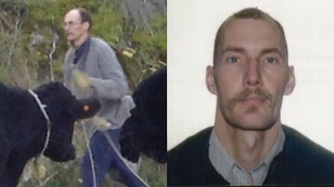 The RCMP released two photos of 45-year-old Peter DeGroot of Slocan, B.C. (B.C. RCMP South East District)