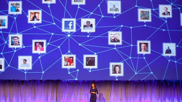 Sheryl Sandberg, Chief Operating Officer of Facebook, speaks at a Facebook event for marketing professionals, Wednesday, Feb. 29, 2012 in New York. New, potentially lucrative advertising opportunities are coming to Facebook as a prelude to its initial public offering of stock. The idea is to lure big brands with the promise of effective, precisely targeted ads that reach the social network's 845 million users.(AP / Mark Lennihan)