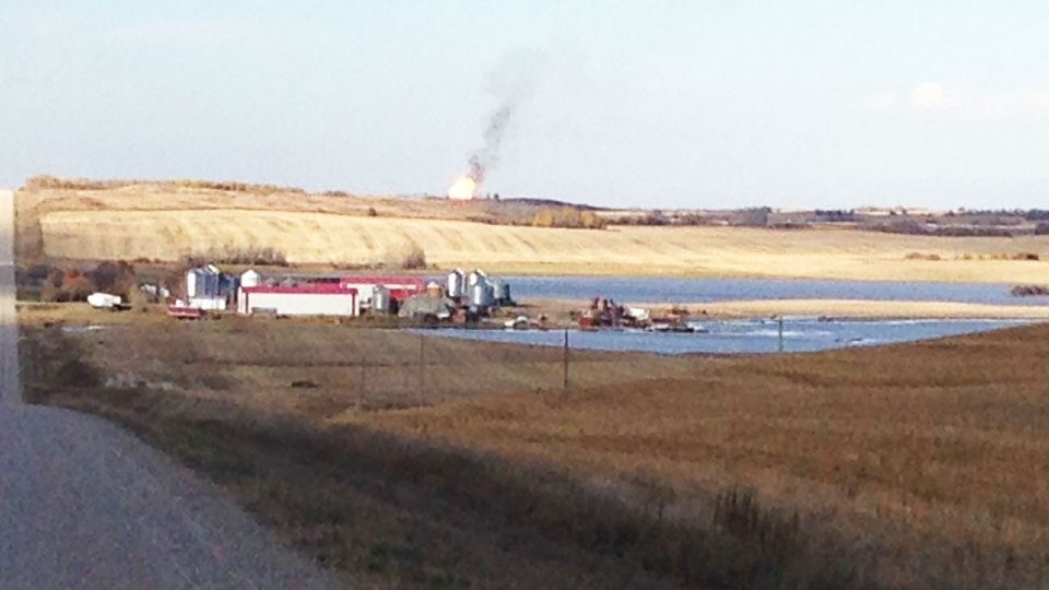 A fire at a Saskatchewan gas facility has prompted an evacuation on Saturday, Oct. 11, 2014.