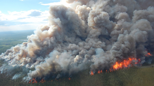 Wildfires in Wood Buffalo National Park