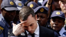 Oscar Pistorius leaves court in Pretoria