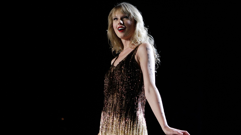 Taylor Swift performs on stage at the Burswood Dome during the opening night of her 'Speak Now' Australian tour in Perth, Australia, Friday, March 2, 2012. Swift will go on to perform in Perth, Adelaide, Brisbane, Sydney, Melbourne and Auckland New Zealand. (AP / Theron Kirkman)