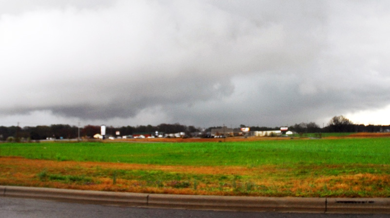 A storm front moves through Athens, Ala., Friday, March 2, 2012.  (AP / The News Courier, Jean Cole)