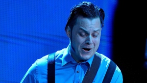 Jack White plays his set at Farm Aid 14 in Raleigh, N.C., Saturday, Sept. 13, 2014. (AP / The News & Observer, Scott Sharpe)
