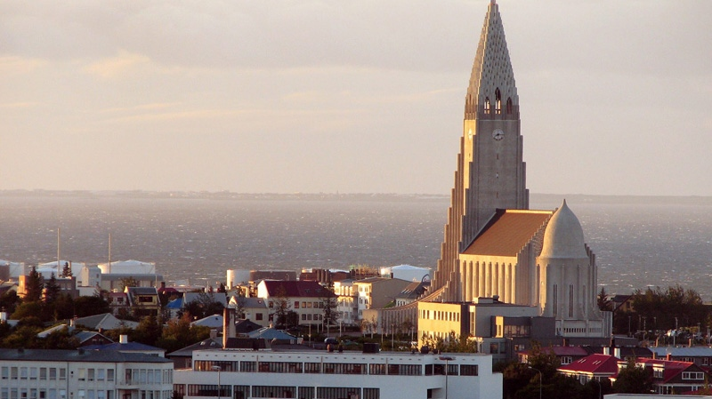 The majestic Hallgrimskirkja church in seen in Reykjavik, Iceland. Will ongoing economic uncertainty about the eurozone push Iceland into the stable arms of the Canadian dollar? (AP / Tania Fuentez)