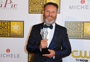 Mark Burnett poses with the award for best reality-competition series for 'Shark Tank' in the press room at the Critics' Choice Television Awards at the Beverly Hilton Hotel on Thursday, June 19, 2014, in Beverly Hills, Calif. (AP / Invision / Richard Shotwell)