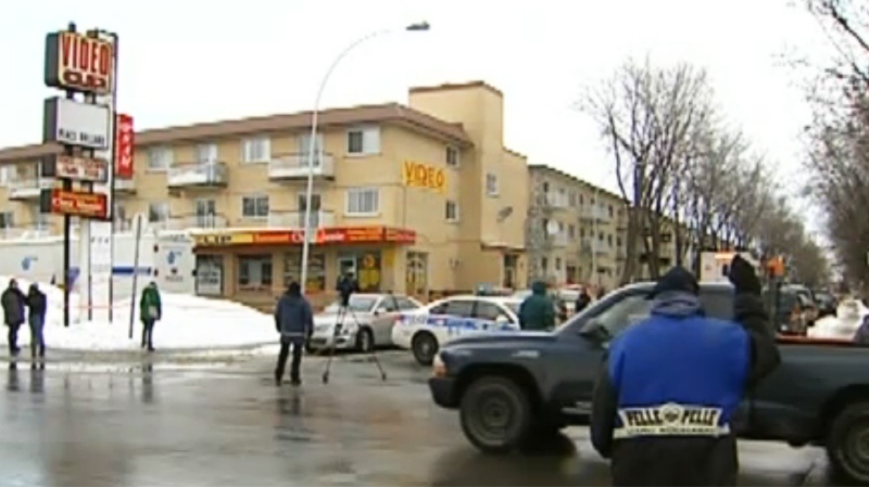Police had the scene of the crime cordoned off Saturday morning.