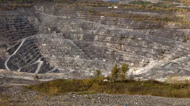 The Jeffrey open-pit asbestos mine is shown on October 7, 2011 in Asbestos Que.
