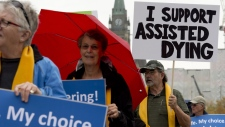 Rally in favour of assisted suicide in Ottawa