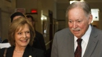 Lisette Lapointe seen in a June 2011 CP file photo alongside husband Jacques Parizeau.
