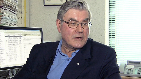 McGill University scientist Lawrence Mysak speaks with CTV News in this undated photo.