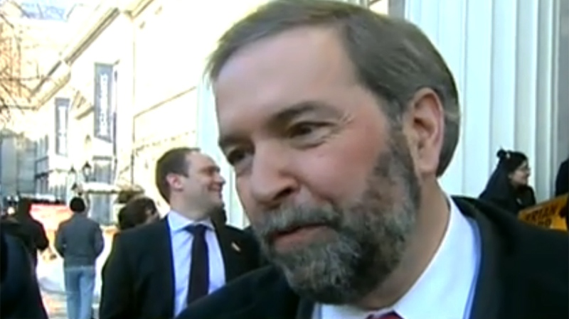 Thomas Mulcair was targeted by many of his rivals Sunday.
