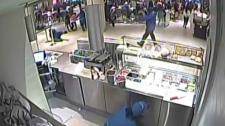 Surveillance video of Eaton Centre shooting