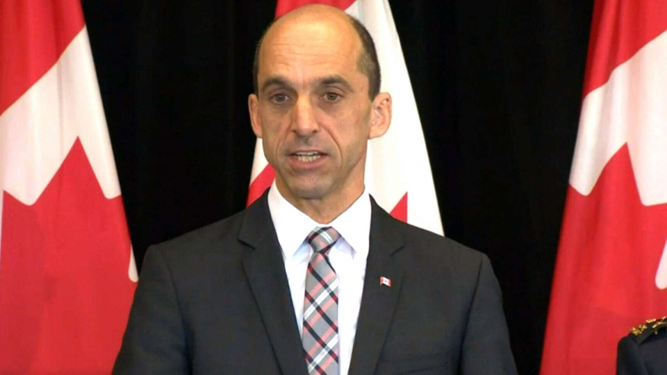 Public Safety Minister Steven Blaney announces plans to amend the Canadian Security Intelligence Service Act, Thursday, Oct. 16, 2014.