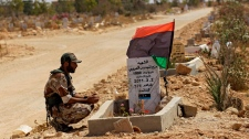 libya, libya rebel fighter grave