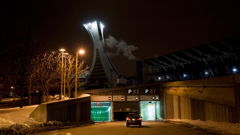 The entrance way to an underground car park at the Olympic Stadium is shown in Montreal, Sunday, March 4, 2012. (Graham Hughes / THE CANADIAN PRESS)