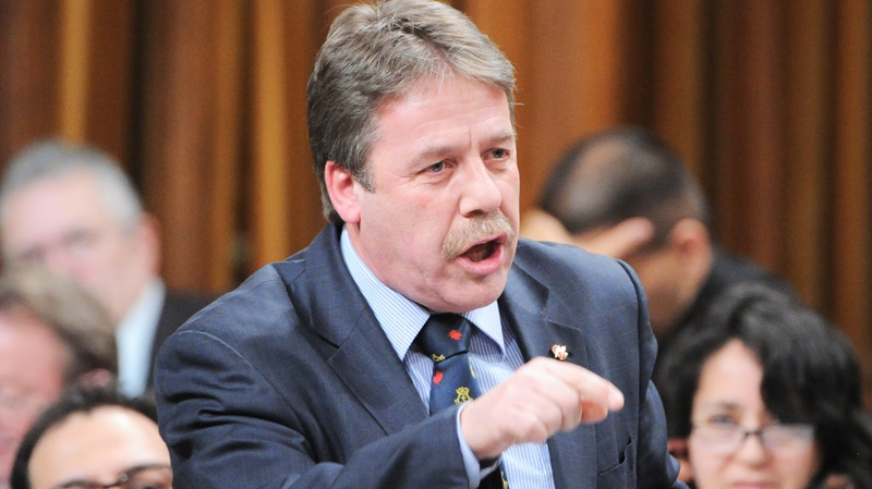 Peter Stoffer, the NDP veterans affairs critic, asks a question during Question Period in the House of Commons on Parliament Hill in Ottawa on Monday, March 5, 2012.