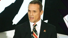 Steve Yzerman speaks after it is announced that he will lead Team Canada into the 2014 Sochi Olympics on Monday, March 5, 2012.