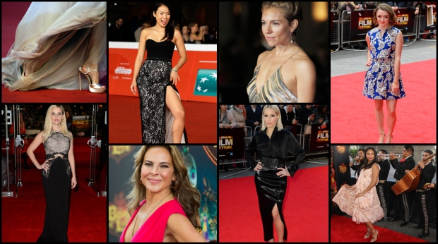 Hollywood's leading ladies stepped out in glamourous dresses that were both elegant and flirty to some fall premieres. CTVNews.ca checks out some of the hottest red carpet looks.