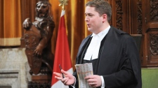 Speaker of the House of Commons Andrew Scheer stands during question period in the House of Commons on Parliament Hill in Ottawa on Tuesday, March 6, 2012. (Sean Kilpatrick / THE CANADIAN PRESS)