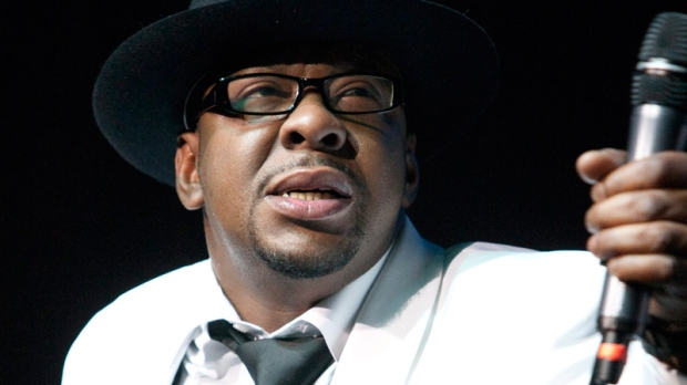 Bobby Brown, former husband of the late Whitney Houston performs with New Edition at Mohegan Sun Casino in Uncasville, Conn. on Saturday, Feb. 18, 2012. (AP / Joe Giblin)