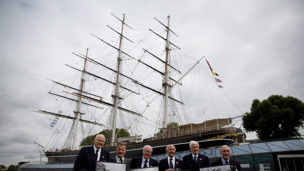 The launch of the restored Cutty Sark in London