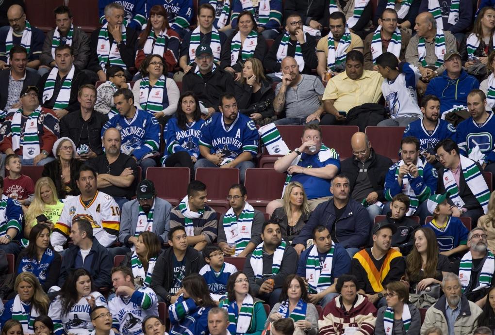 Vancouver Canucks empty seats