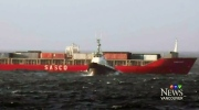 CTV Vancouver: Russian cargo ship slowly towed