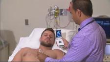 Handheld ultrasound machine
