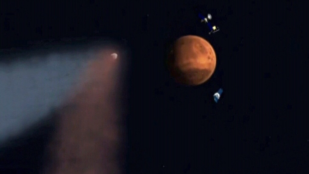 CTV News Channel: 'Siding Spring' skims past Mars