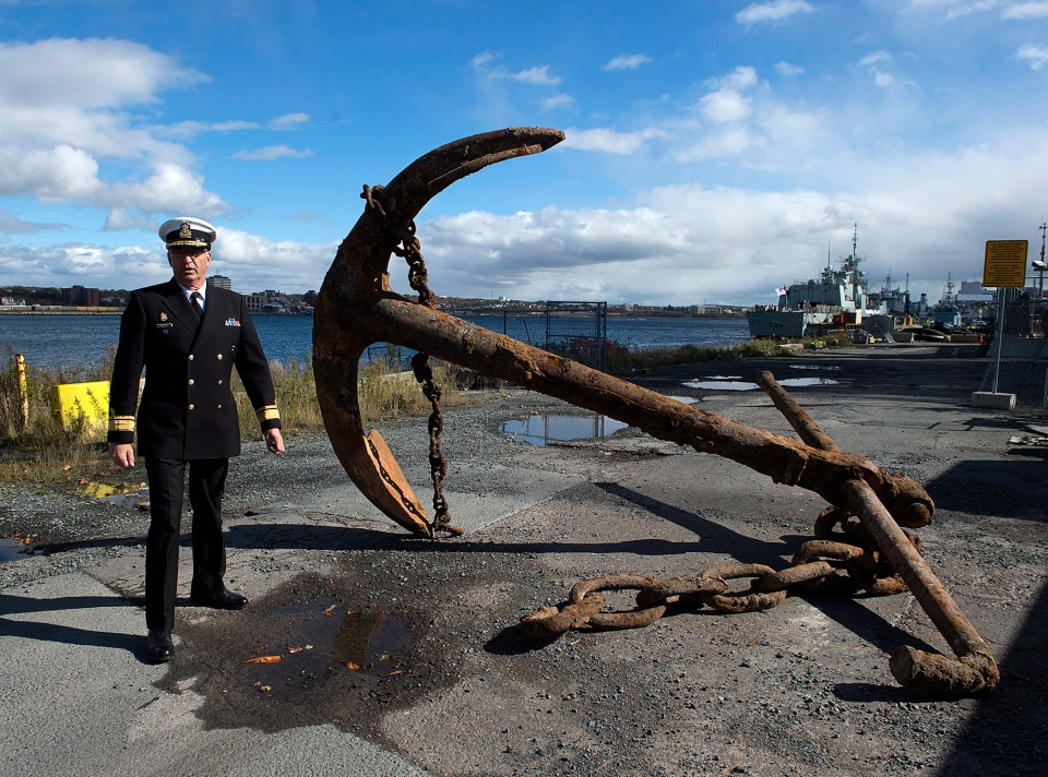 Canadian naval anchor from early 1900s unearthed in ...