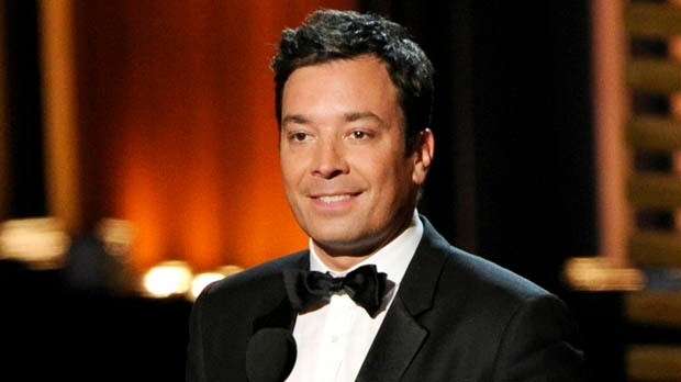 In this Aug. 25, 2014 file photo, Jimmy Fallon presents an award at the 66th Annual Primetime Emmy Awards in Los Angeles.(Photo by Chris Pizzello/Invision/AP, File)