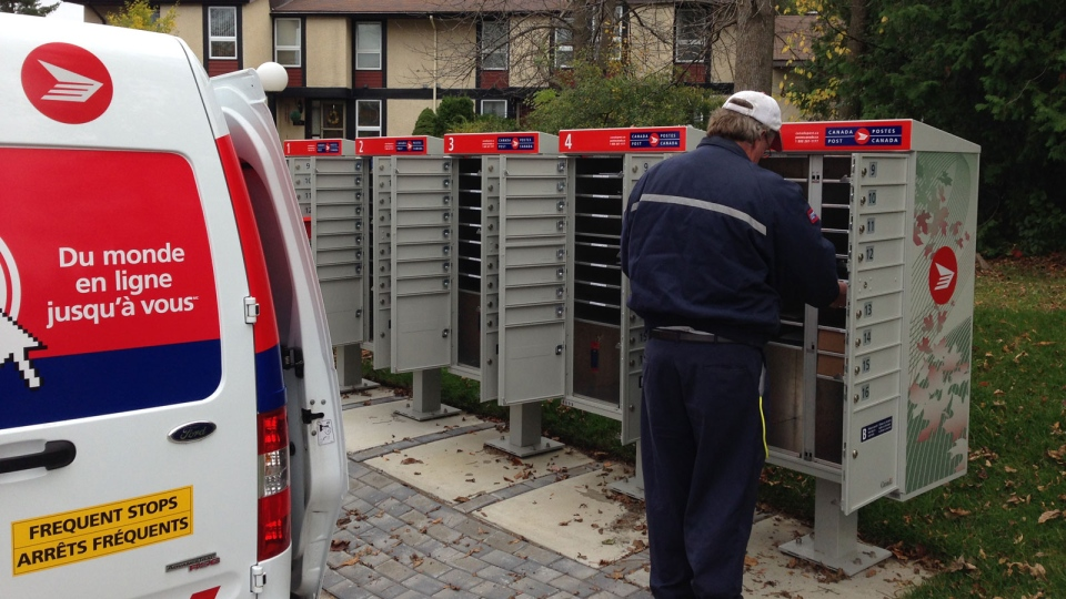 A Canada Post superbox is shown in this file photo.