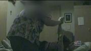 Woman abusing nursing home resident