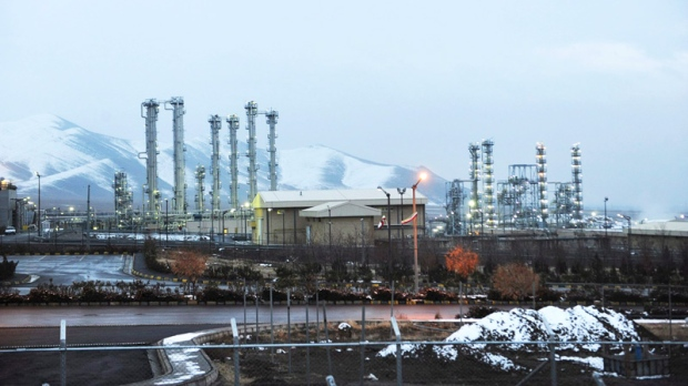 Iran's heavy water nuclear facilities near the central city of Arak, 250 kilometres southwest of Tehran, is shown on Saturday, Jan. 15, 2011. (AP / ISNA, Hamid Foroutan)