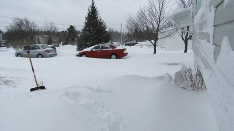A massive winter storm hit parts of eastern Newfoundland, Wednesday, March 7, 2012. (Gail Lynch / MyNews.CTV.ca)