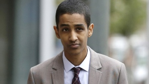 Robel Phillipos, a college friend of Boston Marathon bombing suspect Dzhokhar Tsarnaev, arrives at federal court to attend his trial in Boston, Thursday, Oct. 16, 2014. (AP / Steven Senne)