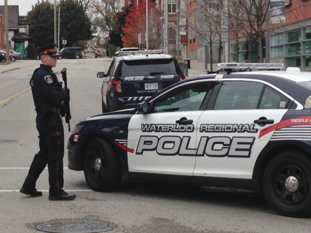 Kitchener City Hall was placed in lockdown after a man entered the building and allegedly made threats to employees inside on Tuesday, Oct. 21, 2014. (Rosie Del Campo / CTV Kitchener)