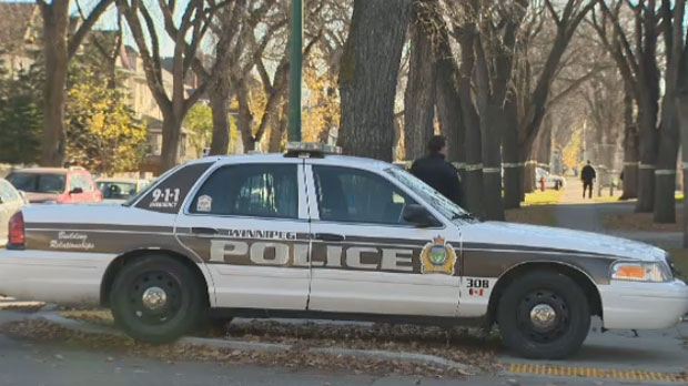 Officers responded to the scene in the 400 block of Church Avenue in Winnipeg around 9:30 a.m. on Oct. 21, 2014. St. John's High School was temporarily in lockdown.