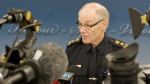 Saskatoon police Chief Clive Weighill speaks to media Oct. 21, 2014.