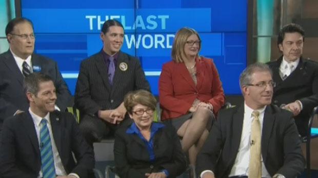 All seven Winnipeg mayoral candidates faced off on CTV Winnipeg's forum on Oct. 21, 2014.